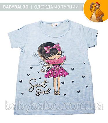 """Стильная футболка """"Девочка с арбузом"""" (от 5 до 8 лет), фото 2"""