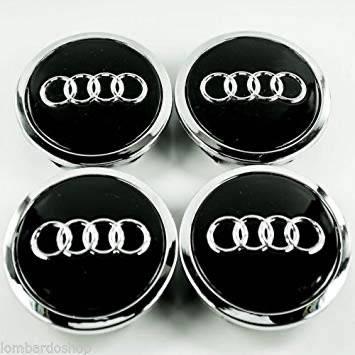 Колпачки на диски AUDI 60/55мм объемные 4 штуки