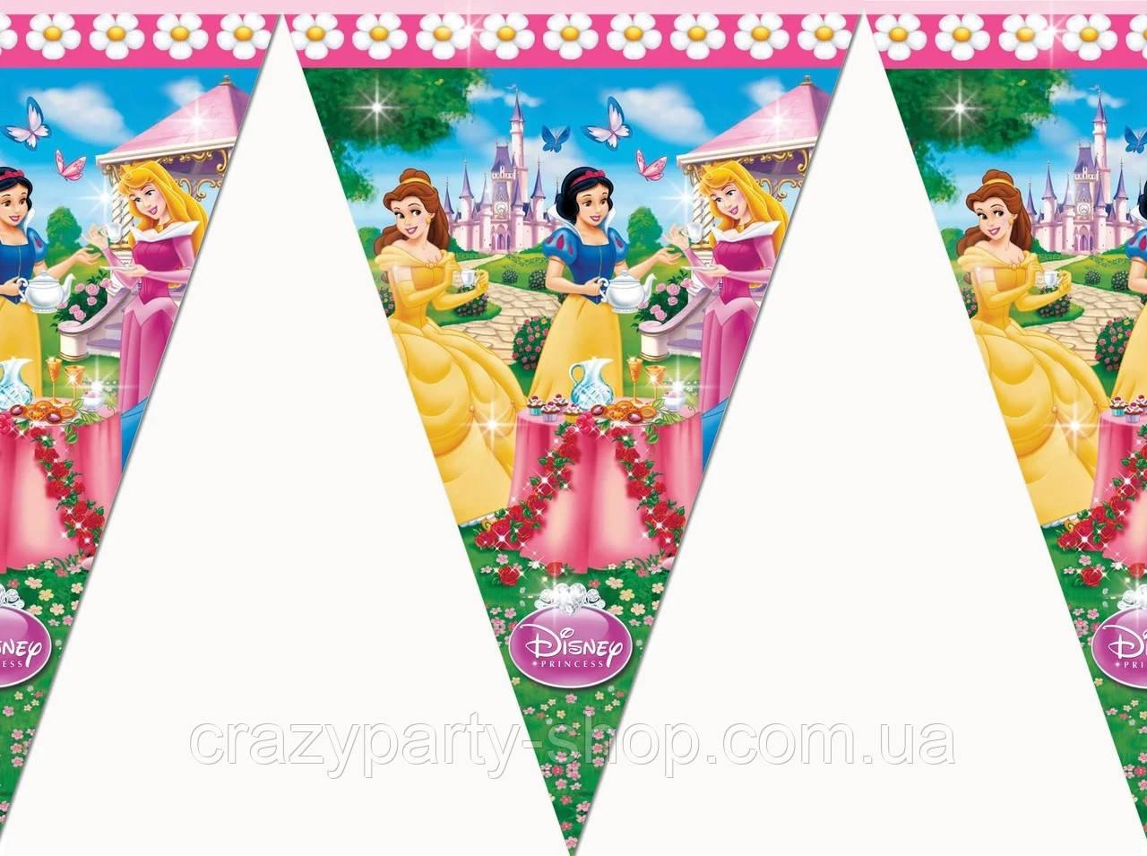Гирлянда-флажки Принцессы Дисней
