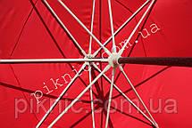 Большой торговый зонт 3м круглый с клапаном Усиленный зонт для торговли на улице Красный 351, фото 2