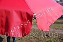 Большой торговый зонт 3м круглый с клапаном Усиленный зонт для торговли на улице Красный 351, фото 3