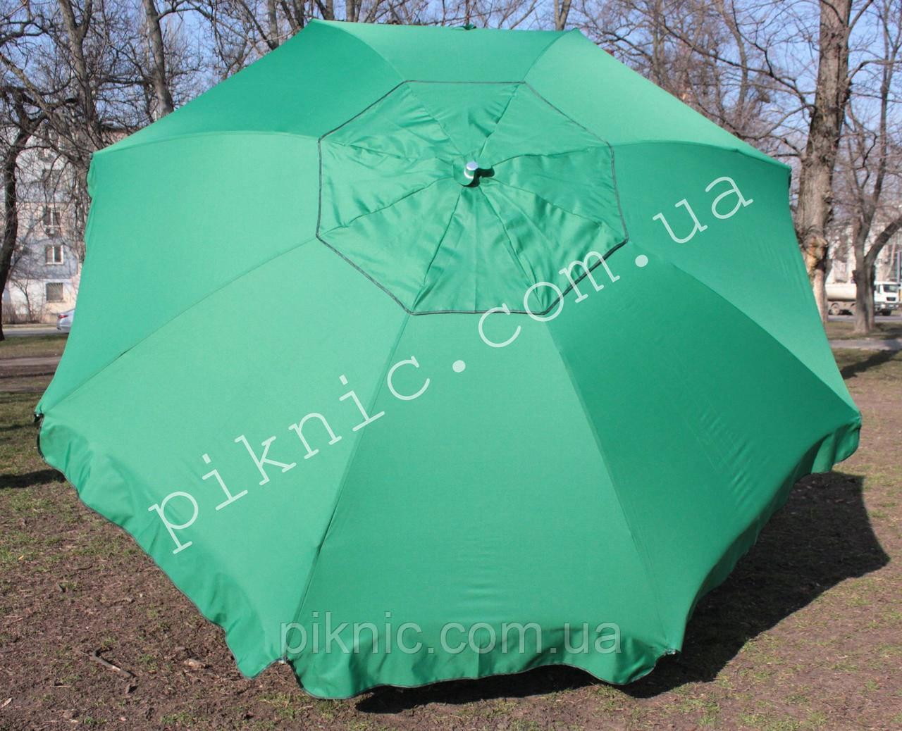 Большой зонт 3,5м круглый, торговый с клапаном. Усиленный, садовый. Плотная ткань. Зонт для торговли на улице!