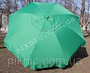 Большой зонт 3,5м круглый, торговый с клапаном. Усиленный, садовый. Плотная ткань. Зонт для торговли на улице!, фото 2