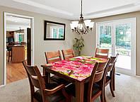Виниловая наклейка на стол Розовое цветение (интерьерные наклейки на столы мебель розовые цветы сакура) 600*1200 мм, фото 1