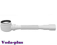Сифон для душевого поддона,выпуск 80мм,высота 55мм,гофра, Ø 40/50