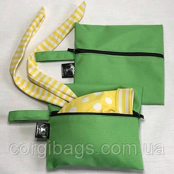 Сумка для влажных вещей, сумка для бассейна, косметичка для купальника, зелёная, WetBag