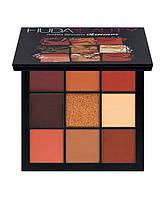 Палетка теней для век Huda Beauty Warm Brown Obsessions Palette, фото 1