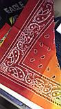 Бандана -платок из хлопка  с переходящей тональностью серый -розовый и голубой, фото 5