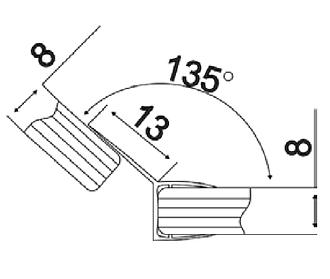 KLC-03-03-00 Душовий ущільнювач під скло 8 мм довжиною 2200 мм