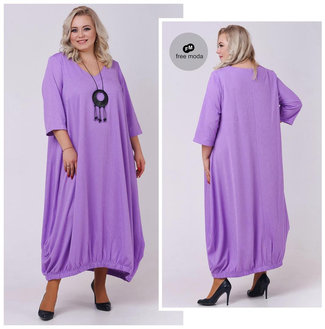 Модное женское длинное платье свобоного кроя в стиле бохо с украшением в комплекте с 66 по 72