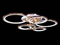 Светодиодная люстра с пультом-диммером и цветной подсветкой золото 8022-6, фото 1
