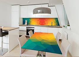 Вінілова наклейка на стіл Абстракція 01 інтер'єрні наклейки на столи меблі переломлення веселка межі