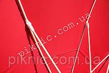 Зонт торговый большой 3,5м круглый с клапаном Усиленный зонт для торговли на улице Красный 351, фото 3