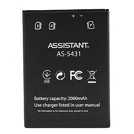 Аккумулятор АКБ для Assistant AS-5431 версия Prima (57x77мм) (Li-ion 3.8V 2000mAh) Оригинал Китай