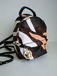 Рюкзак женский кожаный Louis Vuitton mini с декором