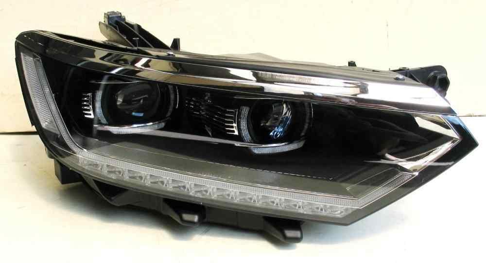Передние фары VW Passat B8 тюнинг Led оптика оригинальный стиль (линза под ксенон)