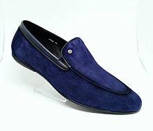 """Мужские туфли """"Лоферы"""" из натуральной Замши от Boss Victor (Китай)."""