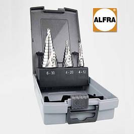 Бесшаговые конические и ступенчатые сверла Alfra