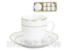 Набір кавовий фарфоровий: 6 чашок 90мл6 блюдець 382-109 ТМBONADI