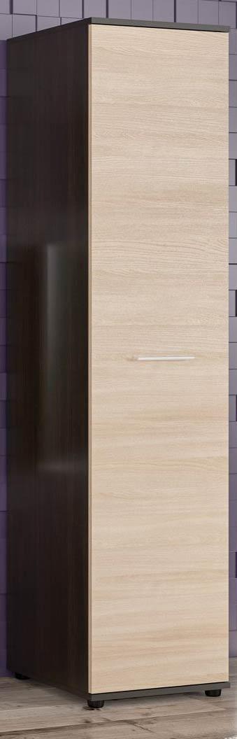 Пенал Феррара МЕБЕЛЬ СЕРВИС (44.6х46х185.9 см) Венге темный + Ясень светлый (без стенки)