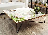 Виниловая наклейка на стол Нежное цветение (интерьерные наклейки на столы мебель белые цветы яблони) 600*1200 мм, фото 1