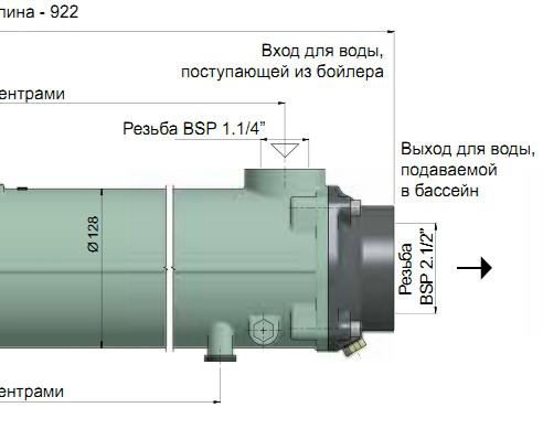 Габаритні розміри Bowman FG160–5115–5S Stainless Steel (300 кВт)