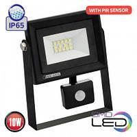 Прожектор з датчиком руху SMD LED 10W 6400K IP65 800Lm/60 PARS/S-10