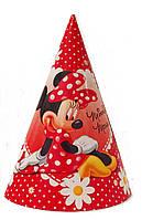 Колпачок праздничный  на голову Минни Маус ромашки