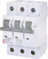 Автоматический выключатель ETIMAT 6 3p C1,6 ETI, 2145507