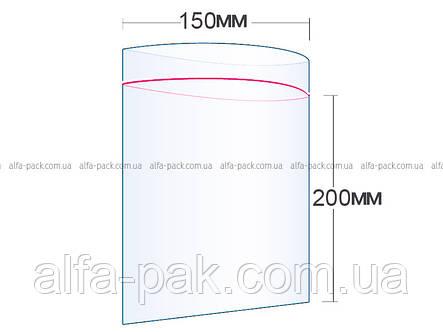 Пакет с замком  ZIP-LOCK 150Х200, фото 2