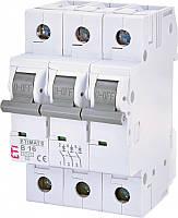Автоматический выключатель ETIMAT 6 3p C10 ETI, 2145514