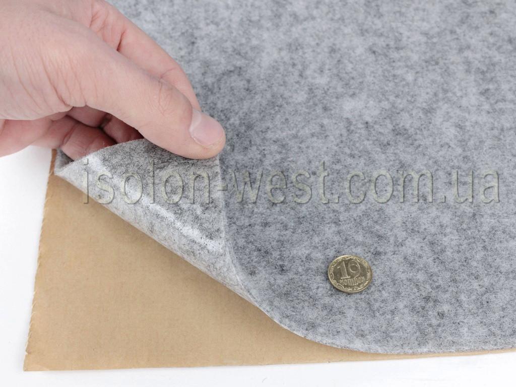 Карпет автомобільний Сірий самоклейка (лист 142х100 см), товщина 2.2 мм, щільність 300 г/м2