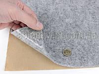 Карпет серый самоклейка (ткань для обивки салона авто, лист 47х100 см), толщина 2.2 мм, плотность 300 г/м2