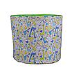 Мешок (корзина) для хранения, Ø45 * 40 см, (хлопок), с отворотом (Жирафчики / горох на зеленом), фото 2
