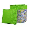 Мешок (корзина) для хранения, Ø45 * 40 см, (хлопок), с отворотом (Жирафчики / горох на зеленом), фото 3