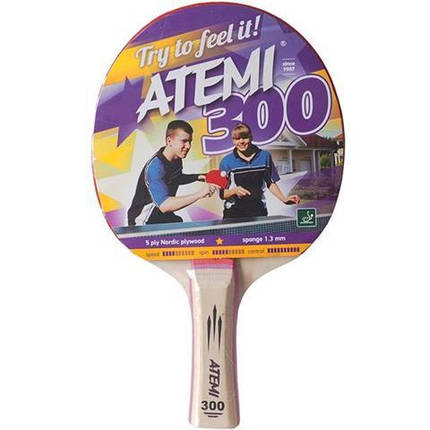Ракетка для настольного тенниса ATEMI 300 сертифицирована ITTF, фото 2