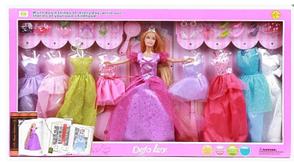Кукла с платьями DEFA 8266 (29см, 8 платьев, обувь, аксессуары), фото 3