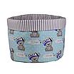 Мешок (корзина) для хранения, Ø45 * 40 см, (хлопок), с отворотом (Its a Boy! На бирюзовом / полоски серые), фото 2