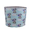 Мешок (корзина) для хранения, Ø45 * 40 см, (хлопок), с отворотом (Its a Boy! На бирюзовом / полоски серые), фото 3