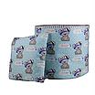 Мешок (корзина) для хранения, Ø45 * 40 см, (хлопок), с отворотом (Its a Boy! На бирюзовом / полоски серые), фото 4