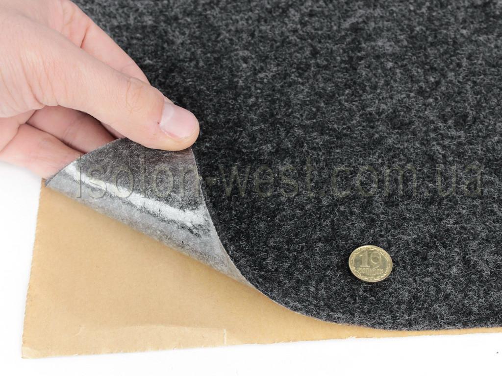 Карпет автомобильный Графит самоклейка (лист 71х100 см), толщина 2.2 мм, плотность 300 г/м2