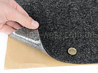 Карпет автомобильный Графит самоклейка (лист 142х100 см), толщина 2.2 мм, плотность 300 г/м2