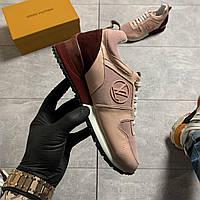 Женские кроссовки Louis Vuitton Runner Pink Bordo