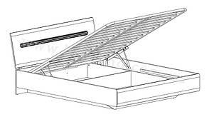 Кровать LOZ/160 БРВ-Украина «Ацтека» с подъемным механизмом, фото 2