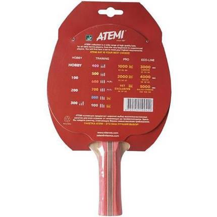 Ракетка для настольного тенниса ATEMI 600 сертифицирована ITTF, фото 2