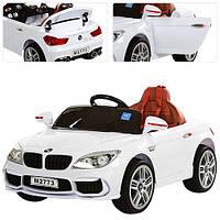 Детская машинка электромобиль BMW M 2773 EBLR-1 с ева колесами и  мягким сиденьем