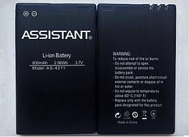 Аккумулятор АКБ для Assistant AS-4211 (Li-ion 3.7V 800mAh) Оригинал Китай