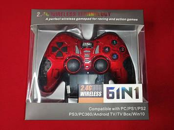 Безпровідний джойстик геймпад Gamepad 6 в 1 (Червоний)