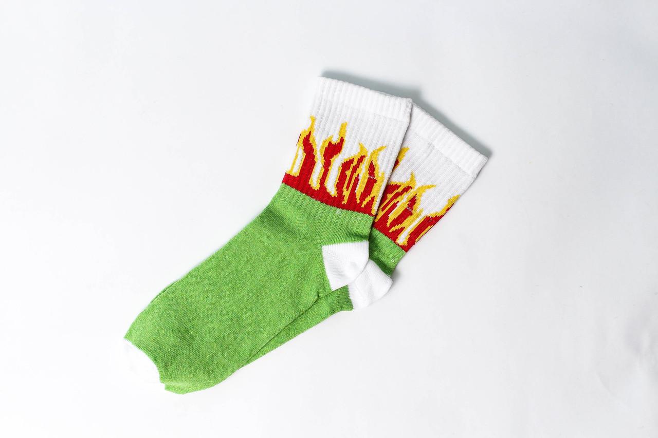 Носки Rock'n'socks Пламя зелёное