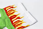 Носки Rock'n'socks Пламя зелёное, фото 2